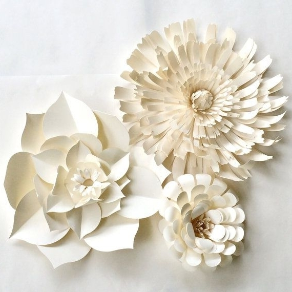 Umbra 3D Flower Wall Art Throughout Famous Umbra Flowers Wall Decor Ideas Luxury Crafty Ideas White Flower Wall (View 14 of 15)