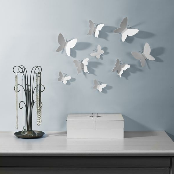 Umbra Mariposa Butterflies Wall Decoration Stickers For £15.00 At throughout Popular Umbra 3D Wall Art