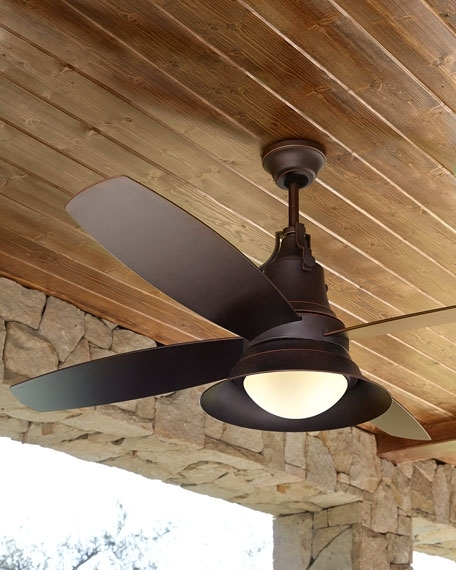 "Union 52"" Indoor/outdoor Ceiling Fan inside Popular Exterior Ceiling Fans With Lights"