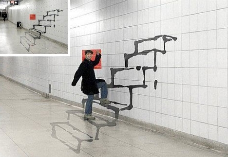 Urbanist within Well-liked Optical Illusion Wall Art
