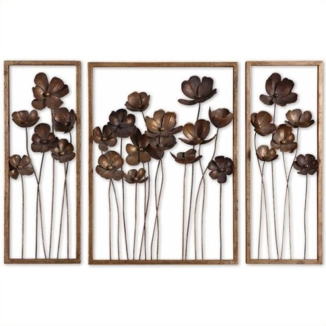 Uttermost Metal Wall Art intended for Newest Uttermost 12785 Metal Tulips Wall Art Set Of 3