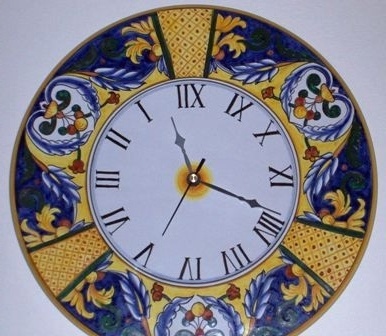 Vakarme In Newest Italian Ceramic Wall Clock Decors (View 13 of 15)