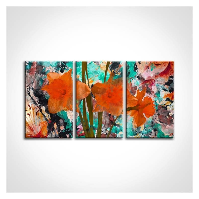 Vakarme Inside Orange And Turquoise Wall Art (View 6 of 15)
