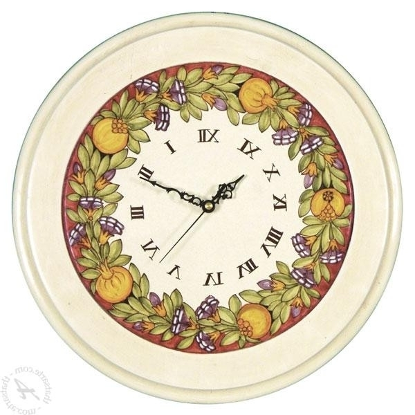 Vakarme With Most Popular Italian Ceramic Wall Clock Decors (Gallery 3 of 15)