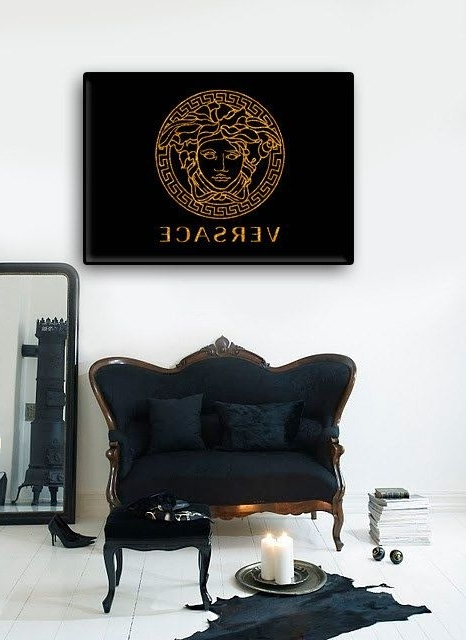 Versace Poster Printable Art Girl's Room Decorsashkamashka (Gallery 3 of 15)