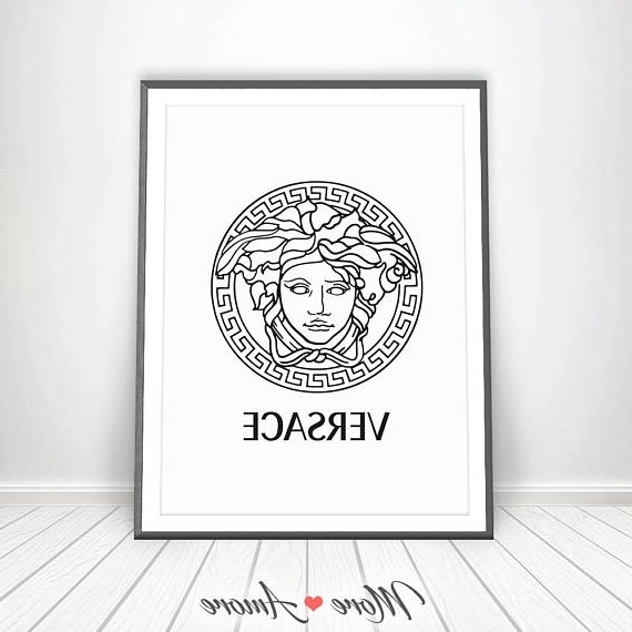 Versace Print • Gianni Versace Logo Medusa Head Affiche Versace Within 2018 Versace Wall Art (View 12 of 15)