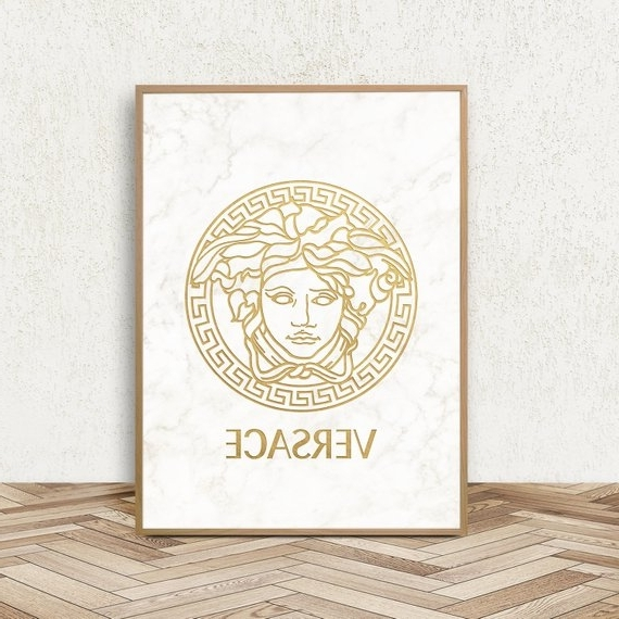 Versace Wall Art Pertaining To Most Popular Versace Inspired Versace Print Fashion Wall Decor Versace (View 13 of 15)