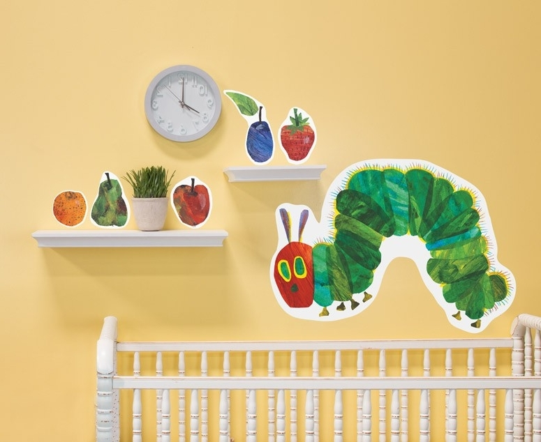 Very Hungry Caterpillar Wall Art for Trendy Very Hungry Caterpillar Fabric Wall Decals