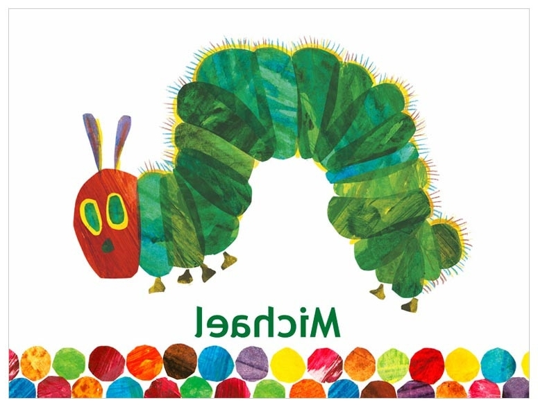 Very Hungry Caterpillar Wall Art with regard to Fashionable Eric Carle's The Very Hungry Caterpillar (Tm), Eric Carle Canvas