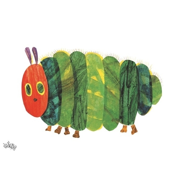 Very Hungry Caterpillar Wall Art with regard to Well-known Shop Eric Carle The Very Hungry Caterpillar Character Art