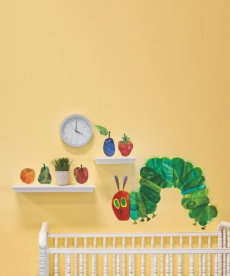 Very Hungry Caterpillar Wall Art with Well-liked Oopsy Daisy, Fine Art For Kids Eric Carles The Very Hungry
