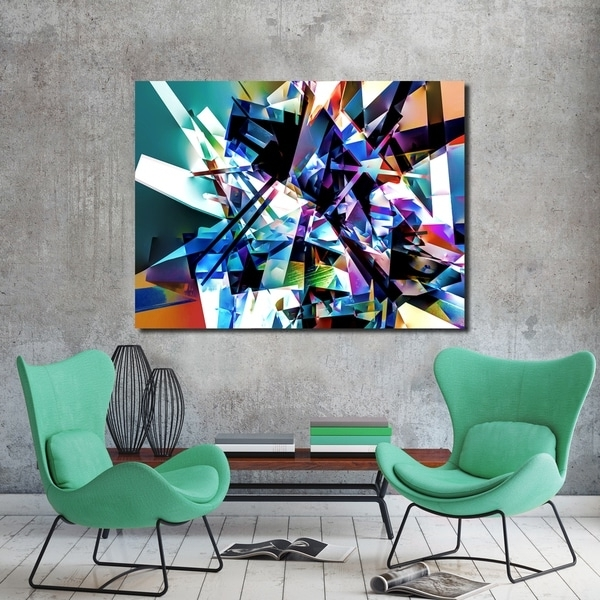 Vibrant Wall Art With Most Up To Date Shop Ready2Hangart Indoor/outdoor Wall Decor 'vibrant Geo Ii' In (Gallery 9 of 15)