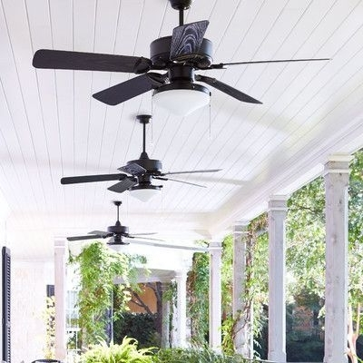"Victorian Outdoor Ceiling Fans In 2017 Front Porch Feature. Found It At Wayfair – 52"" Estate 5 Blade Patio (Gallery 6 of 15)"
