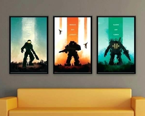 Video Game Wall Art Within Current Wall Piece Design Video Video Game Wall Art Wall Art Design Videos (Gallery 1 of 15)