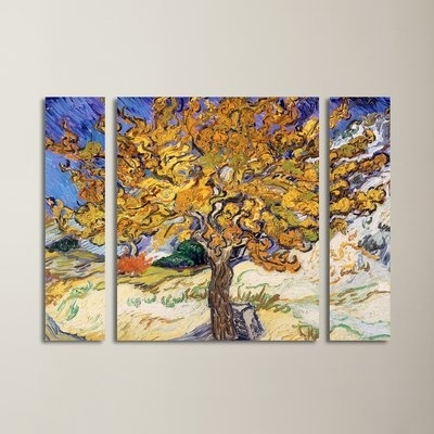 "Vincent Van Gogh Multi Piece Wall Art Regarding Widely Used Red Barrel Studio ""mulberry Tree 1889""vincent Van Gogh 3 Piece (View 13 of 15)"