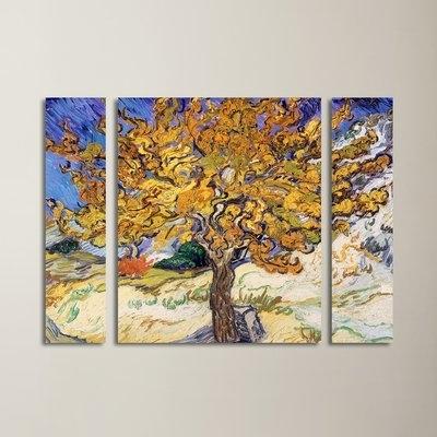 "Vincent Van Gogh Multi-Piece Wall Art regarding Widely used Red Barrel Studio ""mulberry Tree 1889""vincent Van Gogh 3 Piece"