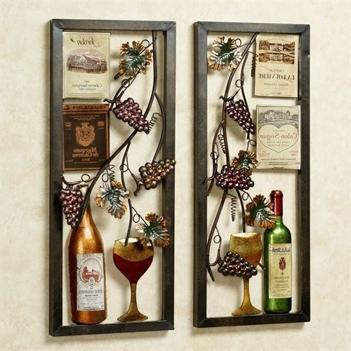 Vineyard Wall Art For Famous Valley Vineyard Metal Wall Art Set (View 12 of 15)