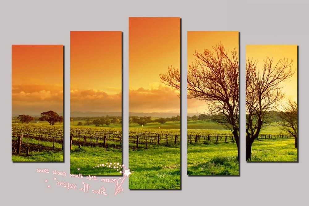 Vineyard Wall Art Regarding Favorite Modern Wall Art Home Decoration Printed Oil Painting Pictures  (View 5 of 15)
