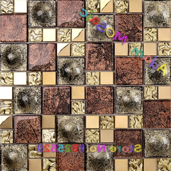 Vintage 3D Glass Mosaic Tile Fireplace Wall Art Deco Materials Throughout Fashionable 3D Glass Wall Art (View 13 of 15)