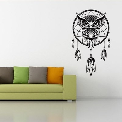 Vintage 3D Wall Art With Famous Creative Vintage 3D Wall Art Personality Owl Vinyl Wall Sticker (View 11 of 15)