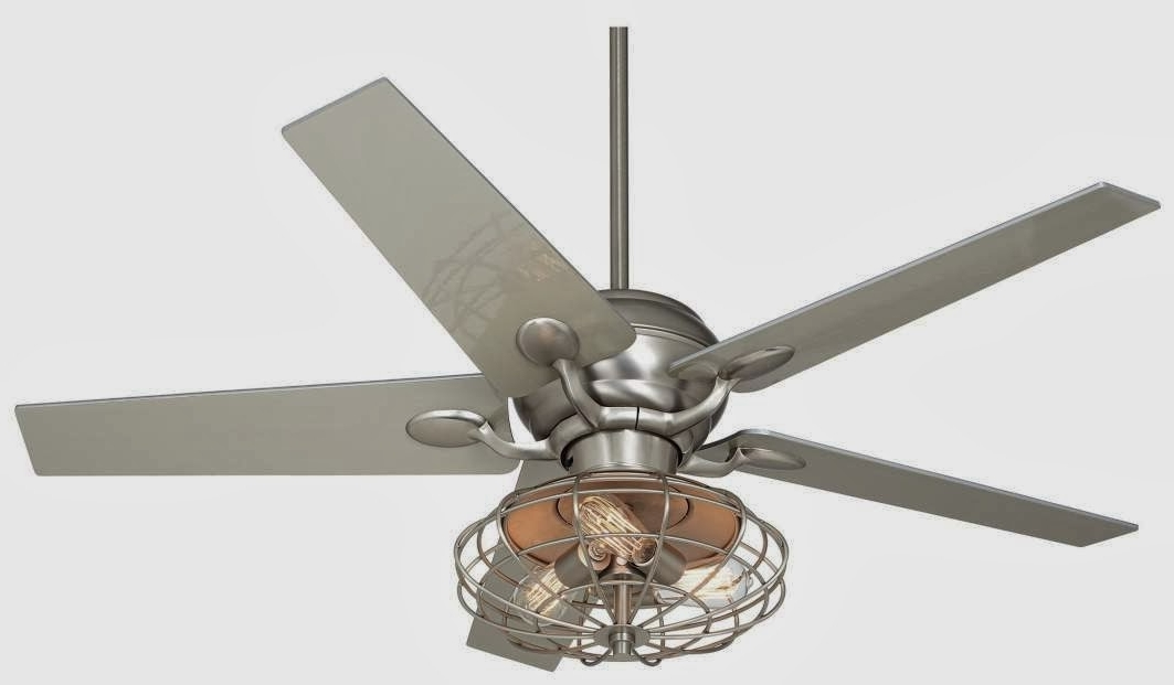 Vintage Look Outdoor Ceiling Fans inside Well-known Ceiling Fan: Amazing Retro Ceiling Fan With Light Design Vintage