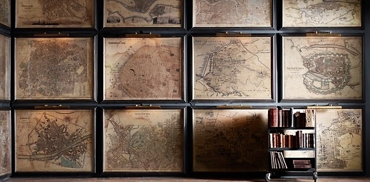 Vintage Map Wall Art (View 12 of 15)
