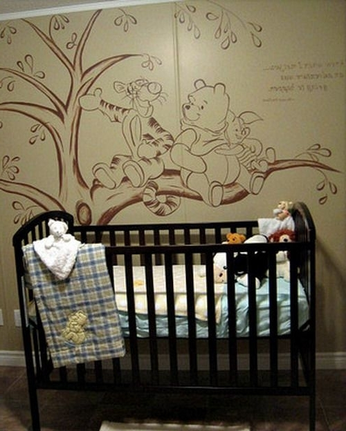 Vintage Winnie The Pooh Wall Murals (View 4 of 15)