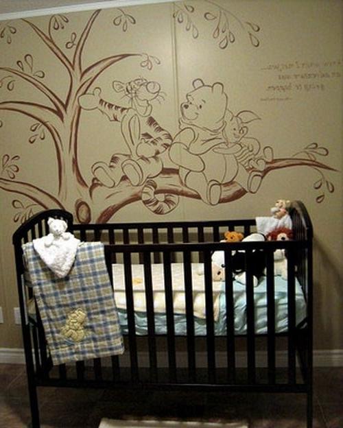 Vintage Winnie The Pooh Wall Murals
