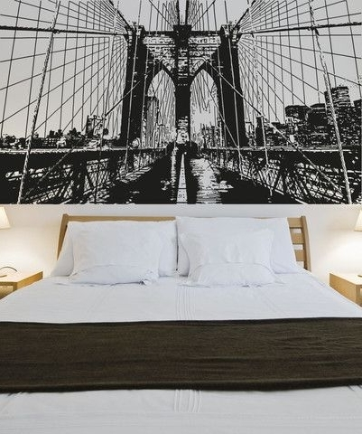 Vinyl Wall Decal Sticker Through The Brooklyn Bridge #os_Aa550 With Best And Newest Brooklyn Bridge Wall Decals (Gallery 7 of 15)