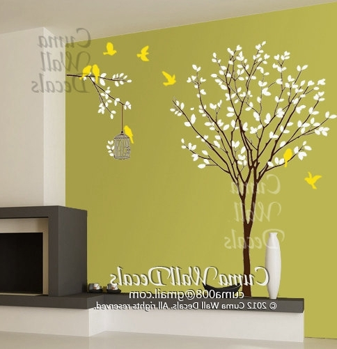 Vinyl Wall Decals Tree Wall Decals Andcuma Wall Decals On Zibbet Intended For Popular Vinyl Wall Art Tree (View 11 of 15)