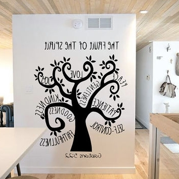 Vinyl With Famous Fruit Of The Spirit Wall Art (Gallery 12 of 15)