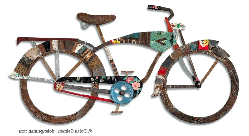 Wall Art Bicycle Style Iron Artwork Bike Framed Wall Art Print With With Regard To Latest Bicycle Metal Wall Art (View 10 of 15)
