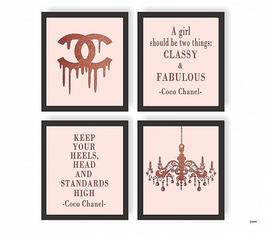 Wall Art Canvas Quotes Inspirational 15 Collection Of Coco Chanel Pertaining To Current Coco Chanel Quotes Framed Wall Art (View 11 of 15)