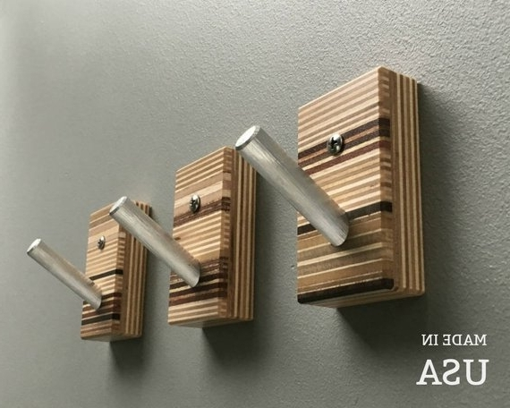Wall Art Coat Hooks With Regard To Famous Modern Wall Hooks Wood Wall Hooks Modern Wall Art Coat (View 15 of 15)