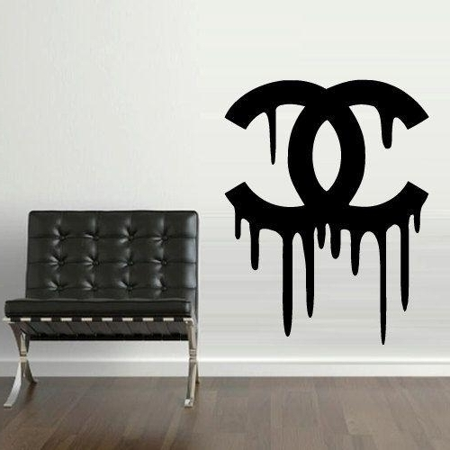 Wall Art Coco Chanel Wall Stickers 13 Of 20 Photos Chanel Wall Decor With Regard To Latest Coco Chanel Wall Stickers (View 8 of 15)
