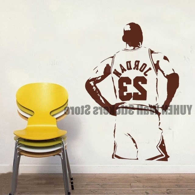 Wall Art Deco Decals Intended For 2017 James Wall Stickers Nba Star Artists Wallpapers Children's Bedroom (View 6 of 15)