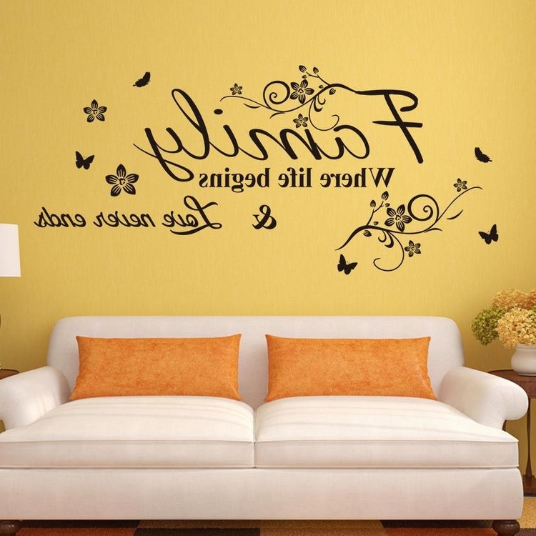Wall Art Deco Decals Intended For 2017 Vinyl Wall Art Decal Decor Quote Stickers Family Where Life Begins (View 4 of 15)