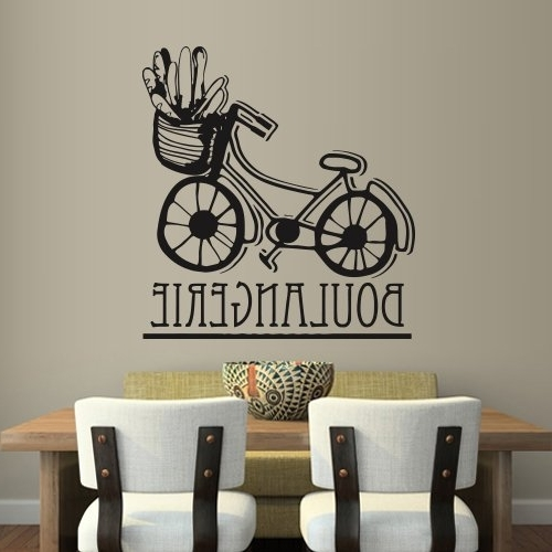 Wall Art Deco Decals With Widely Used Amazon: Wall Decal Art Decor Decals Sticker Boulangerie Bakery (View 14 of 15)
