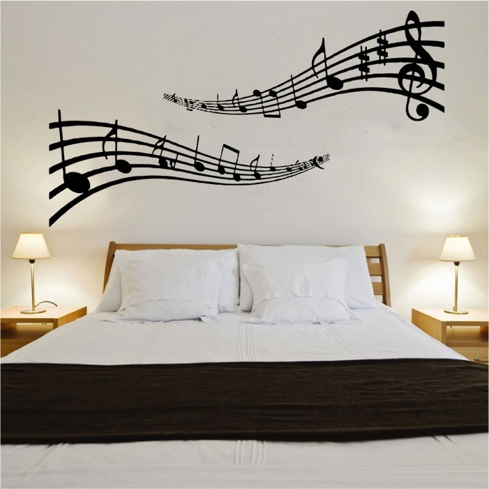 Wall Art Designs: Cool Musical Note Wall Art Removable Feature Music Throughout Famous Music Note Wall Art Decor (View 11 of 15)