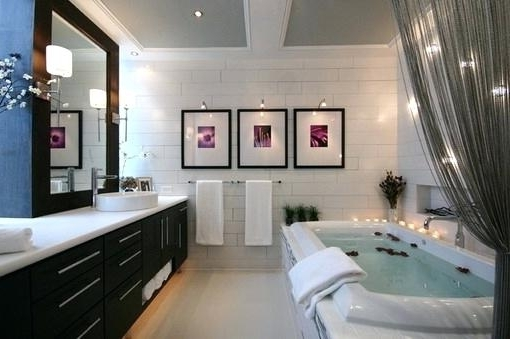 Wall Art For A Bathroom Adorable Contemporary Modern Bathroom Wall In Widely Used Abstract Wall Art For Bathroom (View 5 of 15)