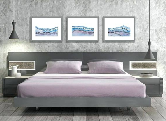 Wall Art For Bedrooms Kitchen Wallbedroom Wall Art Set Of 3 Prints Regarding Current Abstract Wall Art For Bedroom (View 5 of 15)