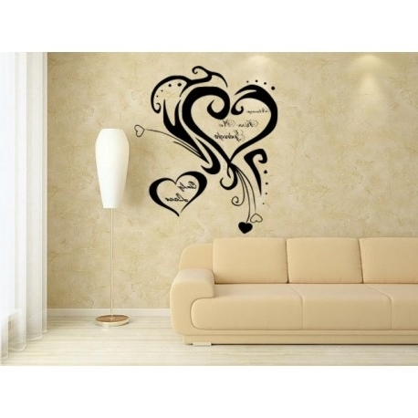Wall Art For Bedrooms Pertaining To Fashionable Romantic Bedroom Wall Art Stickers, Decal Always Kiss Me Goodnight (View 2 of 15)