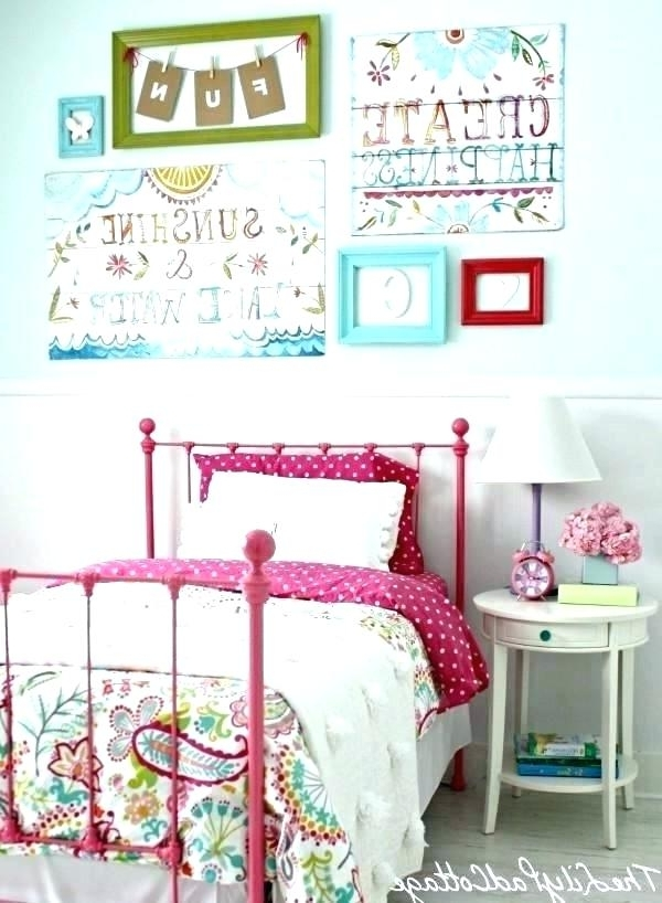 Wall Art For Girls Bedroom Little Girl Decor Designs Remarkable Room Throughout Widely Used Little Girl Wall Art (View 12 of 15)