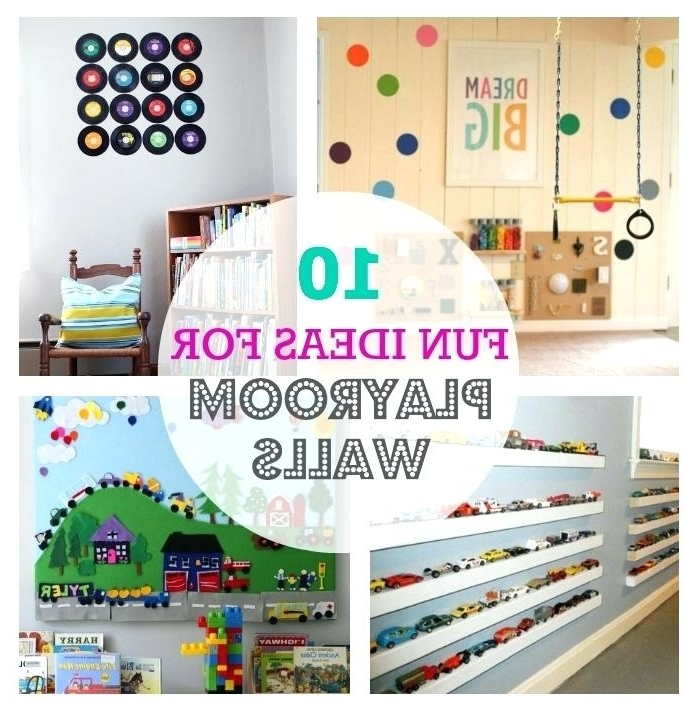 Wall Art For Playroom Inside Latest Decoration: Wall Decor Playroom Ideas 1 Solid Elegant Design Hobby (View 9 of 15)