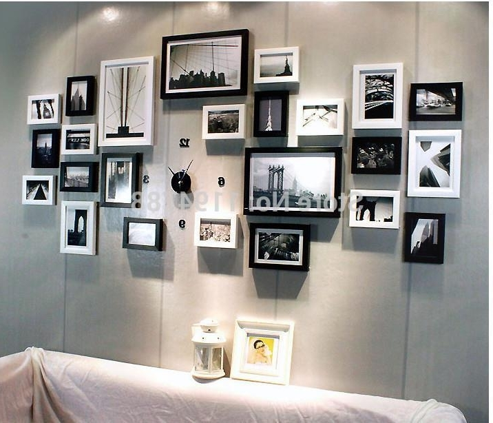 Wall Art Frames With Regard To Popular Modern Art Love Family Wall Decoration Wood Picture Photo Frame Wall (View 14 of 15)