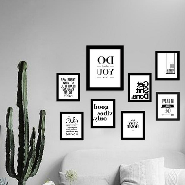 Wall Art Frames Within Well Known Inspirational Quotes Wall Art Canvas Print Modern Wall Painting (View 15 of 15)