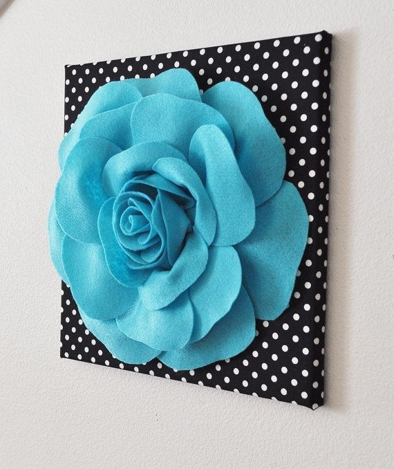 Wall Art Ideas Design : Canvas Borderless 3D Flower Wall Art Hanging In Newest Do It Yourself 3D Wall Art (View 14 of 15)