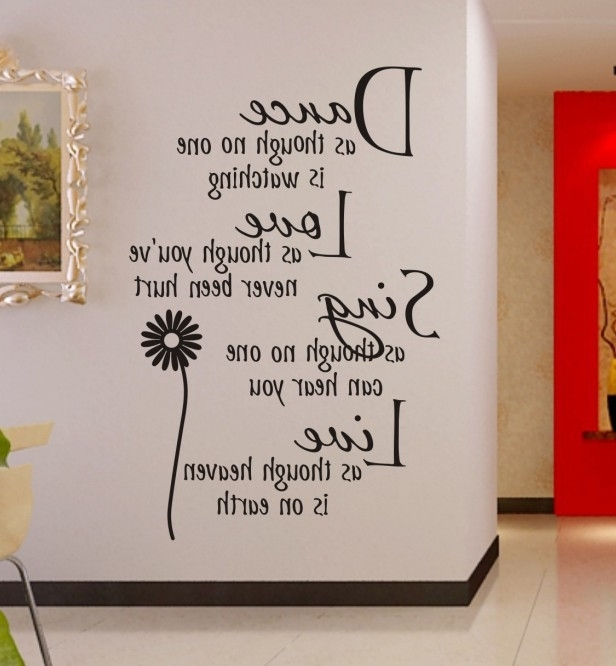Wall Art Ideas Design : Mural Sample Inspirational Sample Wall Art For Most Current Inspirational Sayings Wall Art (View 2 of 15)