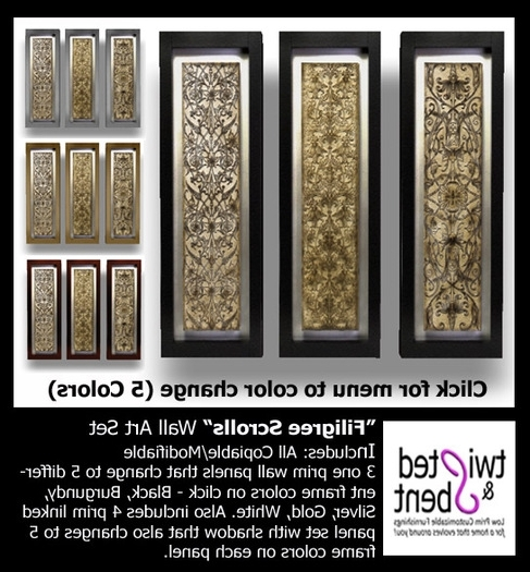 Wall Art Ideas Design : Second Filigree Wall Art Simple Marketplaces Regarding Most Current Filigree Wall Art (View 13 of 15)