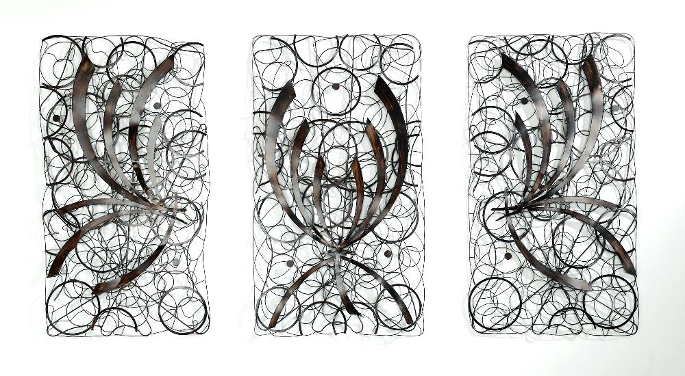 Wall Art Ideas Design White Abstract Metal Art Wall Decor Regarding Most Up To Date Rectangular Metal Wall Art (View 13 of 15)
